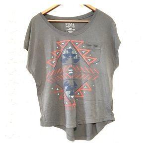 Billabong high-low flowy shirt